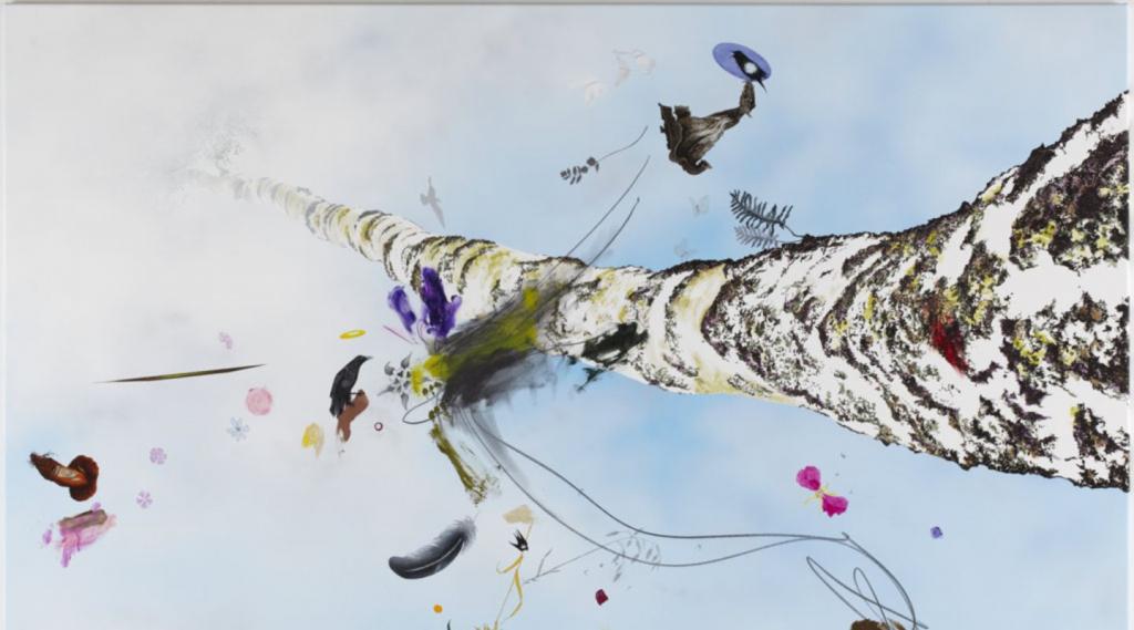 Benny Dröscher. Recalculating (3), 2011. Acrylic on canvas. 130 x 180cm. (1)