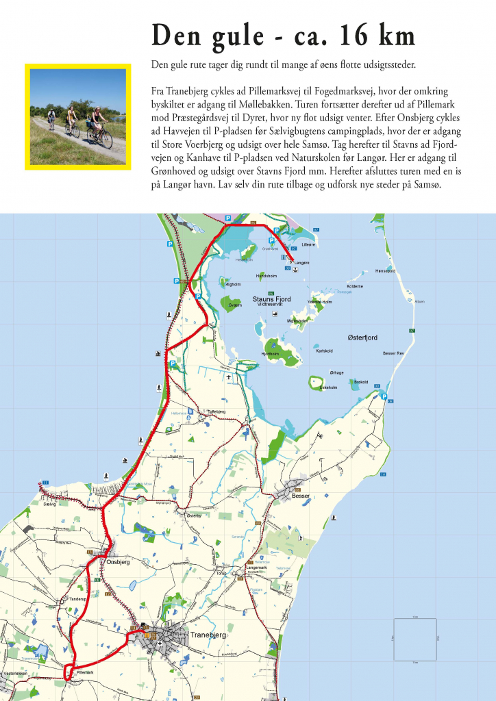 Cykelruter Pa Samso Den Gule Cykelrute Visitsamsoe Dk