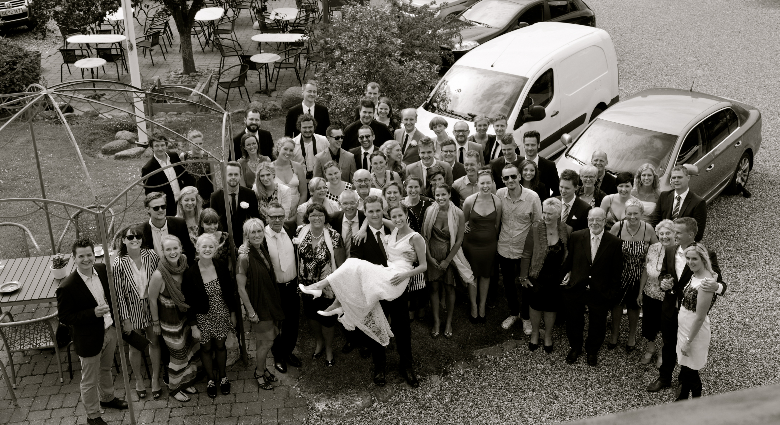Bryllup samlet