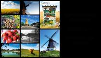 Postkort collage med Samsø motiver.
