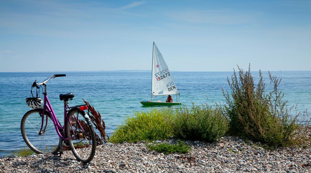 Cykel_familie_strand