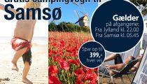 Medbring campingvognen gratis mellem Jylland-Samsø, Samsø rederi