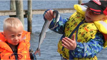 Fisk tur med familien