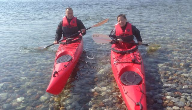 2 personer i kajak, Samsø friluftsliv