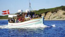 Den gamle træfærge MS Tunø der sejler til Tunø fra Samsø.