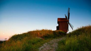 Brundby Samsø - Stubmøllen set nedefra
